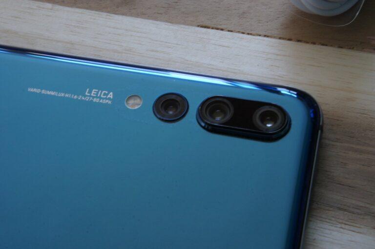 Blick auf das Kameramodul im P20 Pro