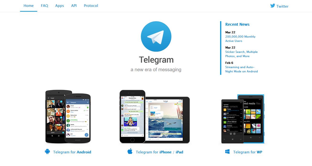 Der Messenger Telegram erlaubt es, dass ihr nur unter einem Benutzernamen zu finden seid. Die Telefonnummer müsst ihr euren Chatpartnern nicht preisgeben (Screenshot von telegram.org)