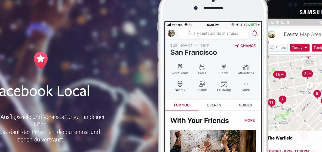 Facebook Local: Tolle Idee, aber (leider) mit Facebook-Anbindung