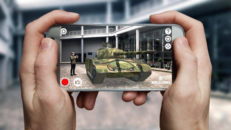 So ein Panzer kann dank ARCore auch in eurem Wohnzimmer stehen. (Foto: Wargaming)