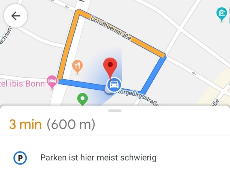 """""""Parken hier ist schwierig"""": Weiß ich Google, etwas Hilfe hätte ich mir gewünscht."""