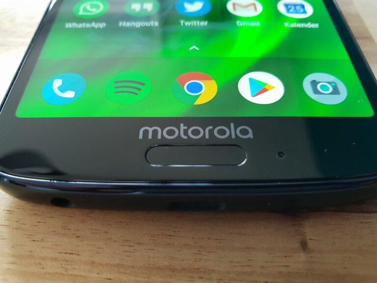 Fingerabdrucksensor im Moto G6