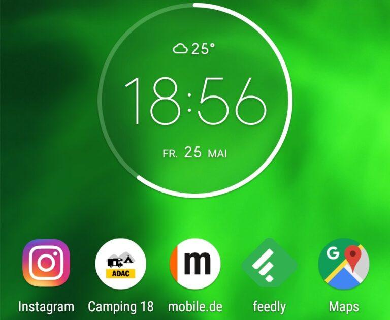 Motorola Moto G6 Oberfläche: alles rund