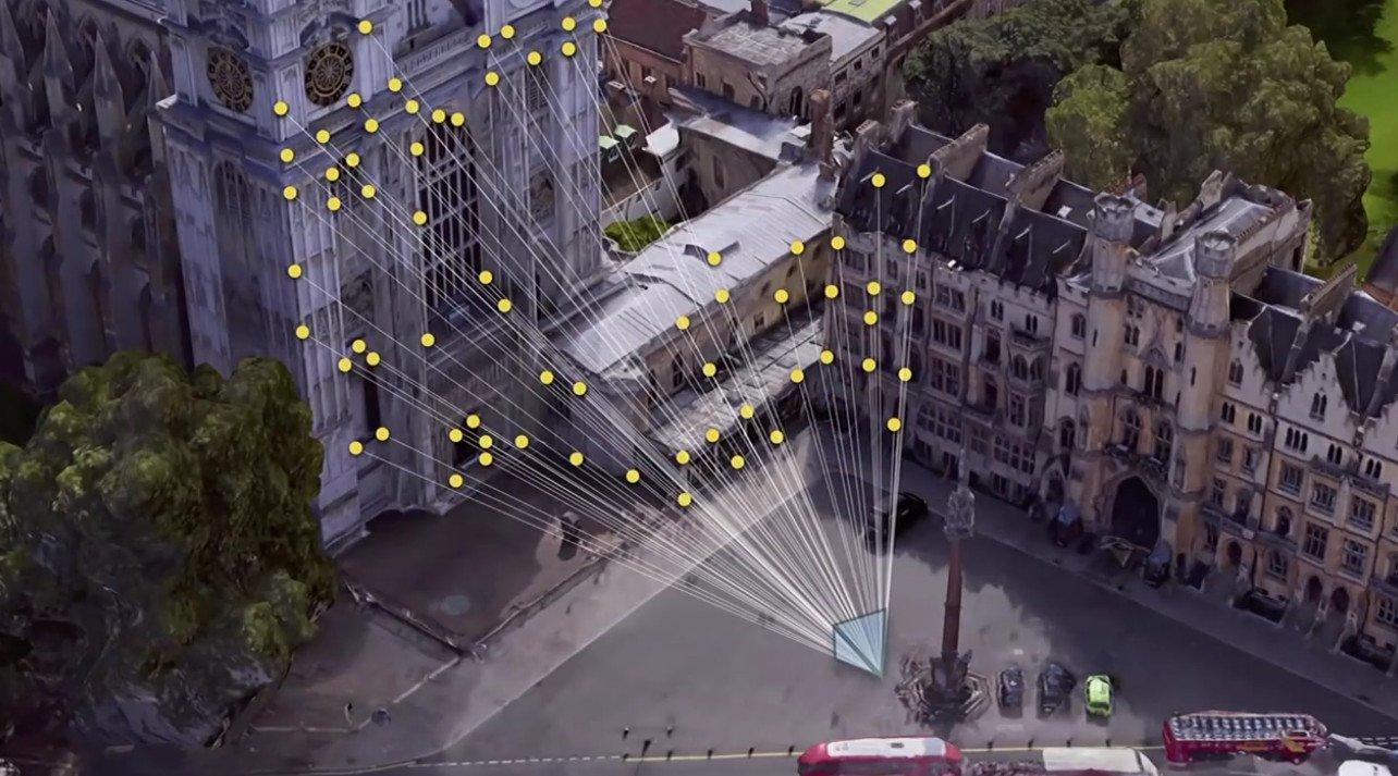 Visual Positioning System: Anhand der Umgebung wird erkannt, in welche Richtung ihr schaut (Screenshot von der Google-Keynote)