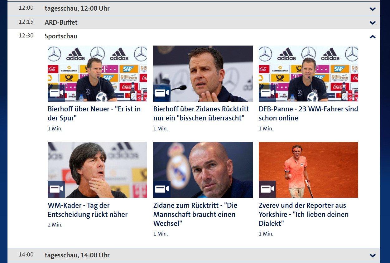Das Erste Mediathek: Ohne passende Lizenzen ist nicht die ganze Sportschau online zu sehen, nur Ausschnitte (Screenshot)