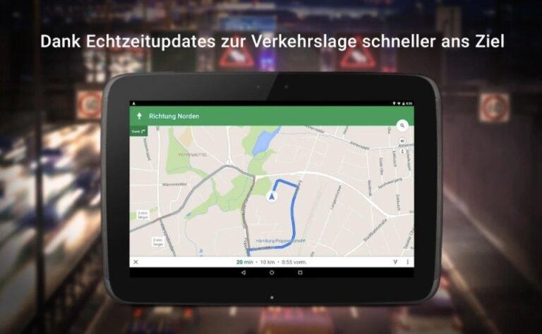 Google Maps als Navi verwenden