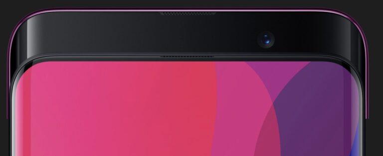Anders als beim Vivo Nex, aber auch beim Oppo Find X poppt die Kamera in Form einer ganzen Leiste bei Bedarf nach oben.