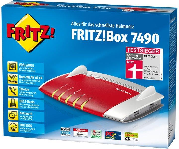 Mit der Fritz!Box 7490 könnt ihr bereits WLAN Mash nutzen. (Foto: AVM)