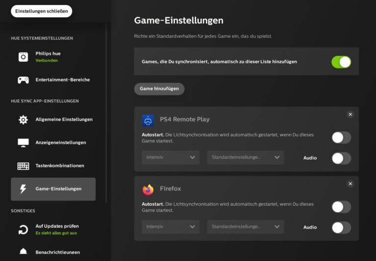 Unterstützt wird auch PS4 Remote Play und der Firefox-Browser. (Foto: Screenshot)