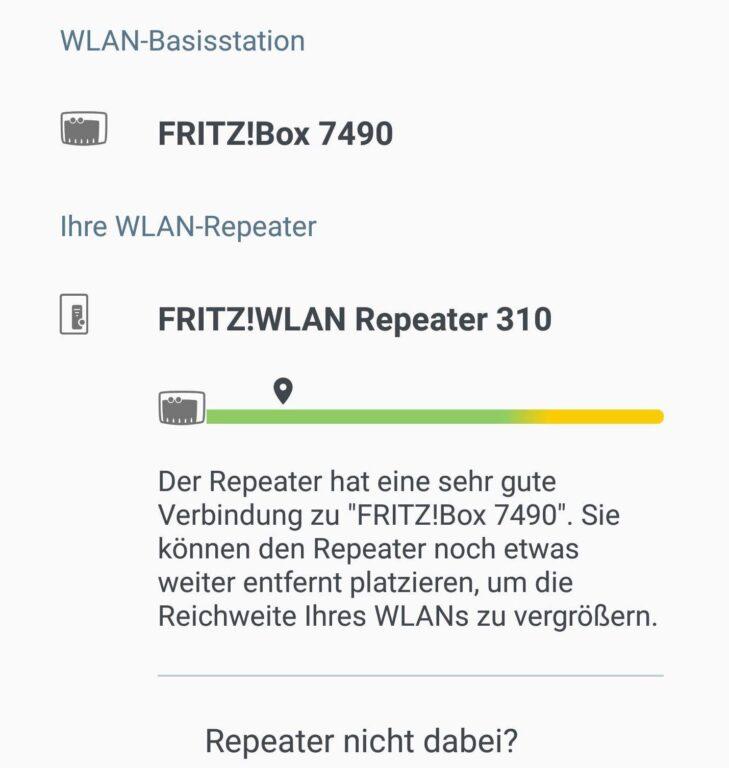 Prima Verbindung. Aber ich kann noch einen besseren Ort für ein größeres WLAN-Netz suchen. (Foto: Screenshot)