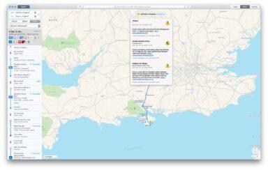Apple Karten als Routenplaner Bus und Bahn
