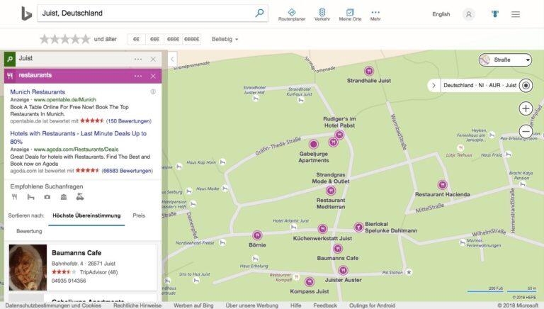 Lokalsuche mit Bing Maps