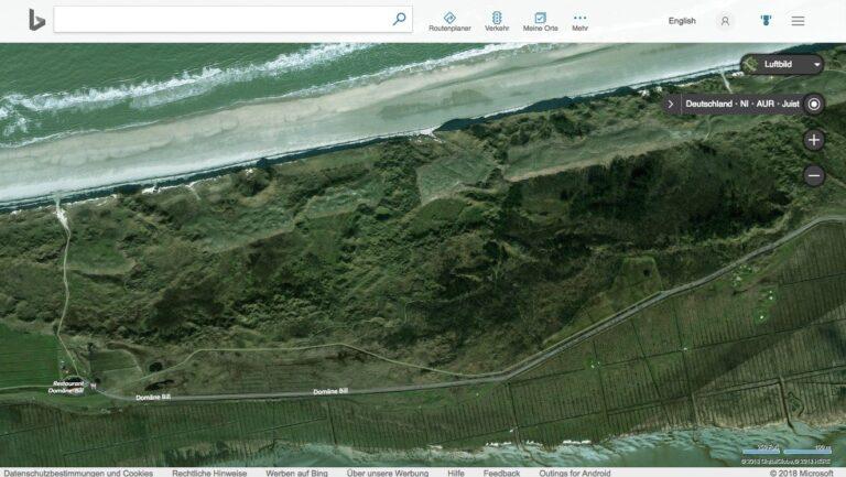 Satellitenbild von Juist mit Bing Maps