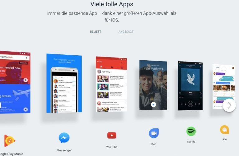 Viele, viele bunte Apps, vor allem eigene, installiert Google jeder Android-Version vor. Bis auf Google mag das kaum jemand.