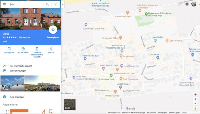 Lokalsuche mit Google Maps