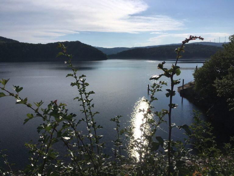 Mobiler Hotspot im wahrsten Sinne: Der Rursee in der Eifel
