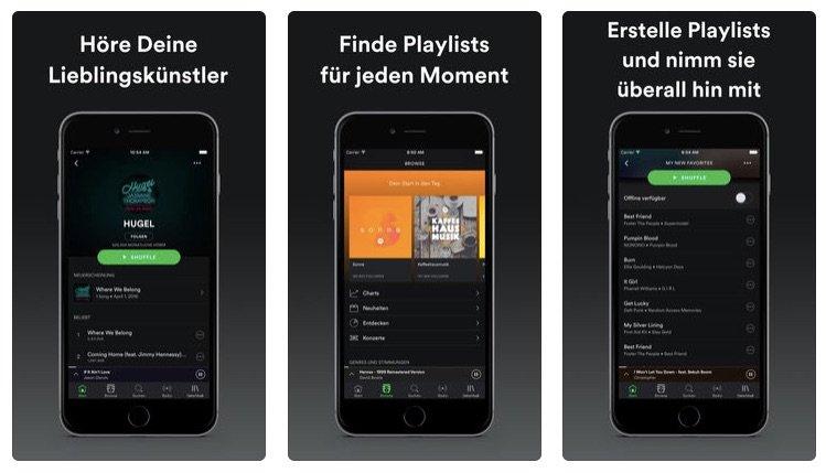 Unterwegs Musik hören: Eine Stunde Spotify hören kostet nur 40 bis 70 MB Daten.