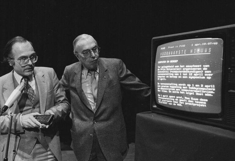 Teletext Videotext Niederlande 1980. Quelle: Nationaal Archief der Niederlande