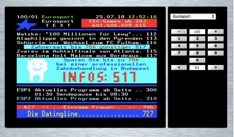 Teletext-Viewer Eurosport