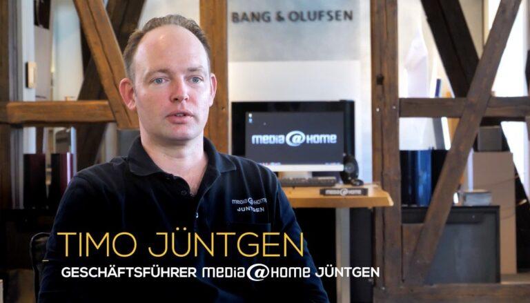 Timo Jüntgen, Geschäftsführer von media@home Jüntgen in Solingen