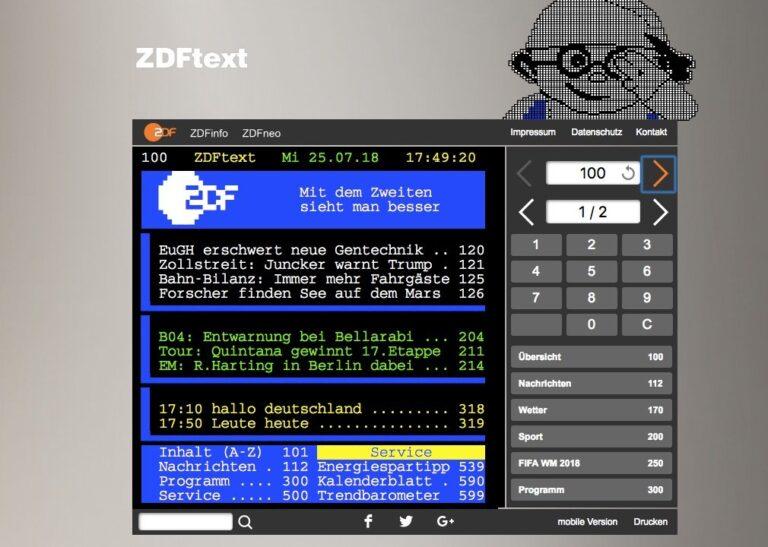 ZDF-Text Teletext Videotext