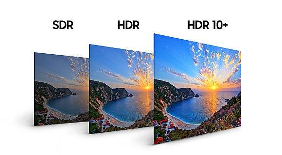 Vergleich zwischen SDR und HDR 10+ (Foto: Samsung)