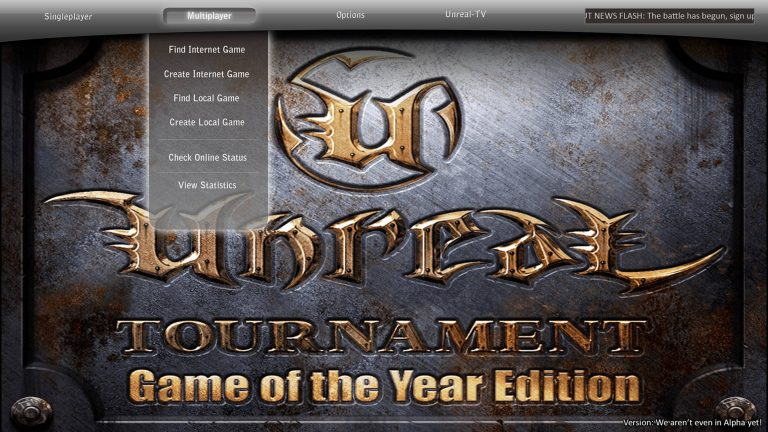 unreal-tournament-main-menu