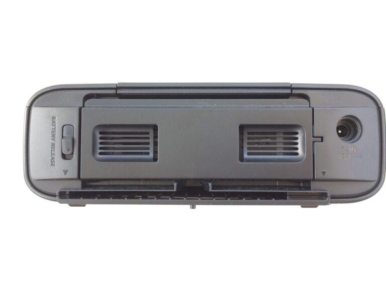 Platz für ein Akkupack beim Fotodrucker Canon Selphy 1300