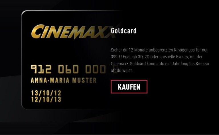 Cinemaxx-Goldcard: Vielseitig aber teuer