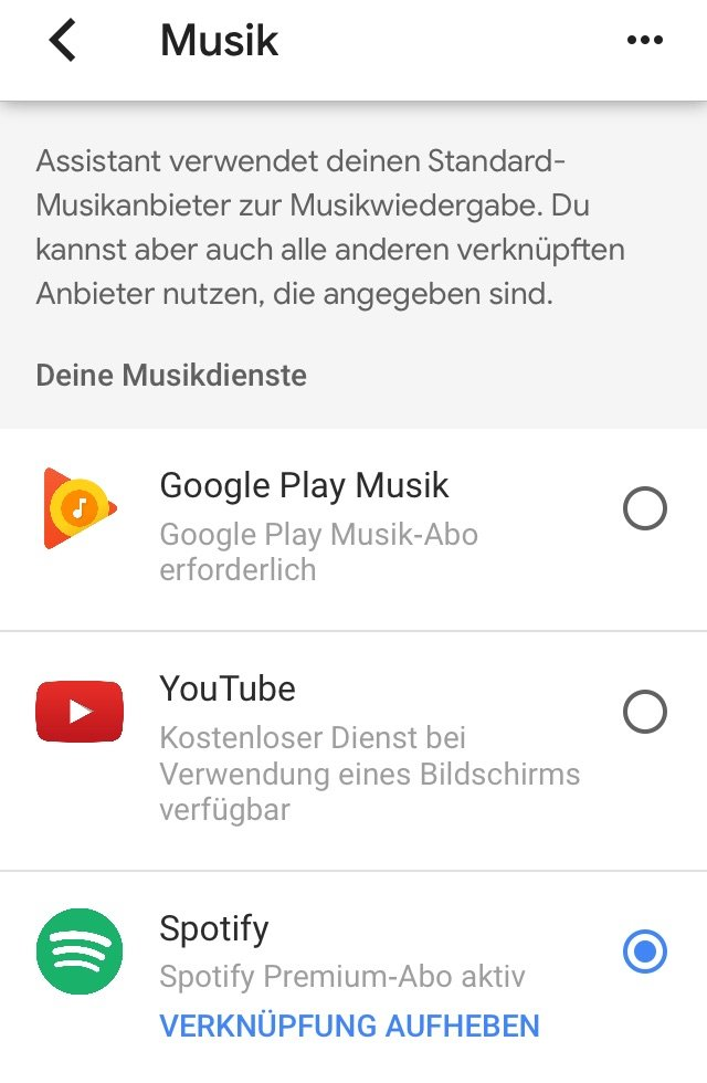 Google Home Mini Musikstreaming