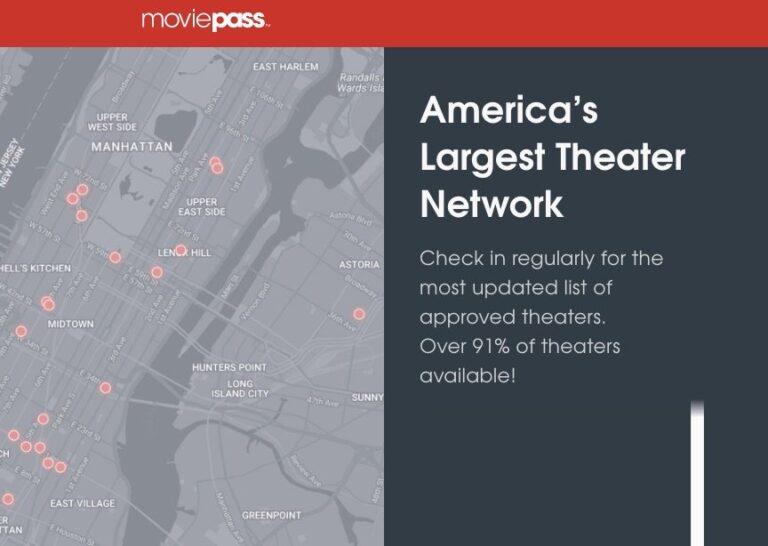 91 Prozent aller US-Kinos, 3 Millionen Kunden: Moviepass mit einem sehr attraktiven Angebot.