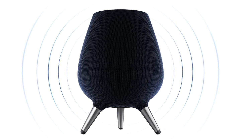 Der Samsung Galaxy Home ist ein smarter Lautsprecher, der es mit Google Home und Amazon Echo aufnehmen soll (Bild: Samsung)