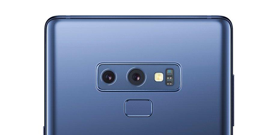 Beim Samsung Galaxy Note 9 befindet sich der Fingerabdrucksensor unterhalb der Dual-Kamera (Bild: Samsung)