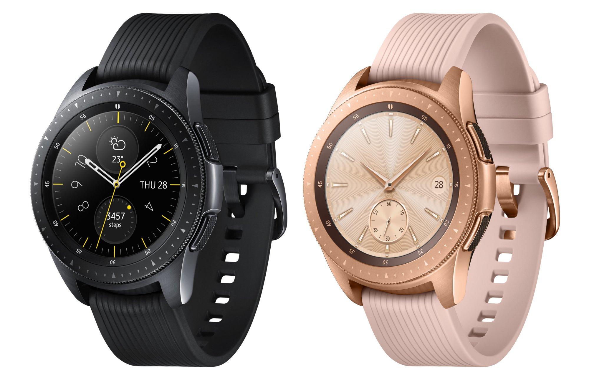 Die Samsung Galaxy Watch gibt es in zwei Größen, drei Farben sowie mit und ohne LTE (Bilder: Samsung)