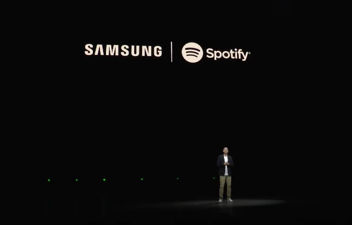 Spotify-CEO Daniel Ek auf der Samsungbühne (Screenshot des Livestreams)