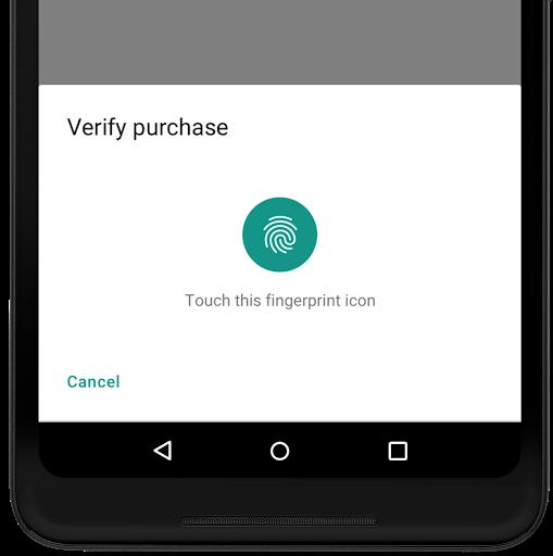 Eine einheitliche Oberfläche für biometrische Eingaben. (Foto: Google)