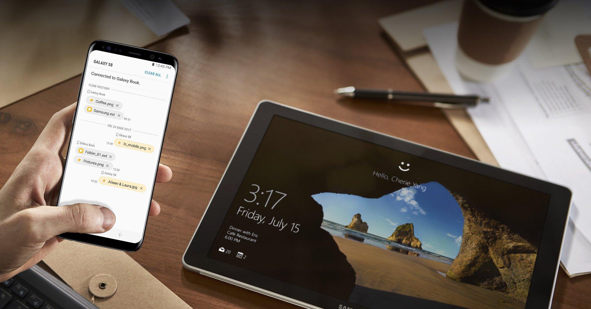 Samsung Flow: So kommen Windows-PC und Smartphone zusammen