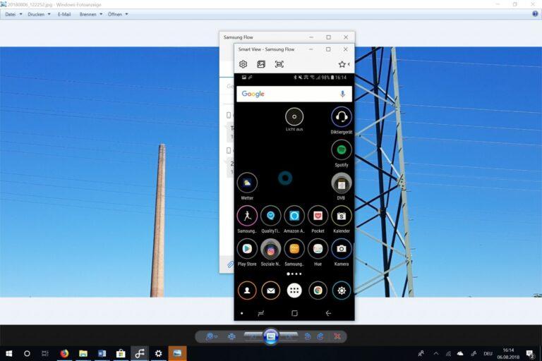 Sehr cool: Spiegelt die Inhalte des Smartphones komplett auf euren PC. (Foto: Screenshot)