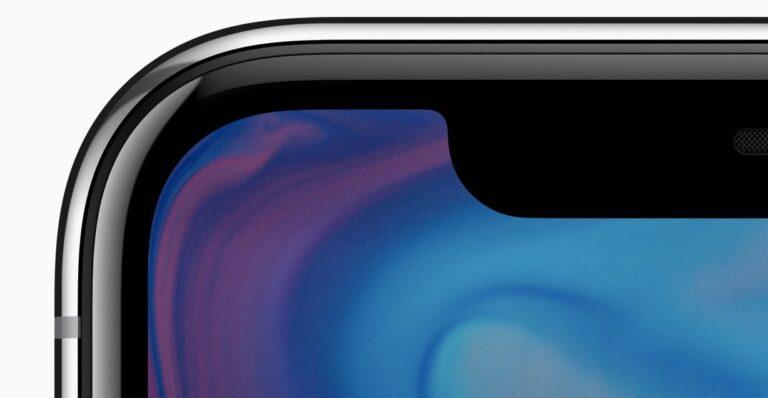 """""""Display, wohin das Auge sieht"""", sagt Apple. Aber schon hier fällt die Notch auf."""