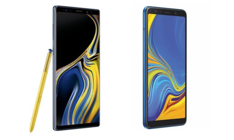 Nicht ganz unähnlich: Galaxy Note 9 und Galaxy A7 (2018)