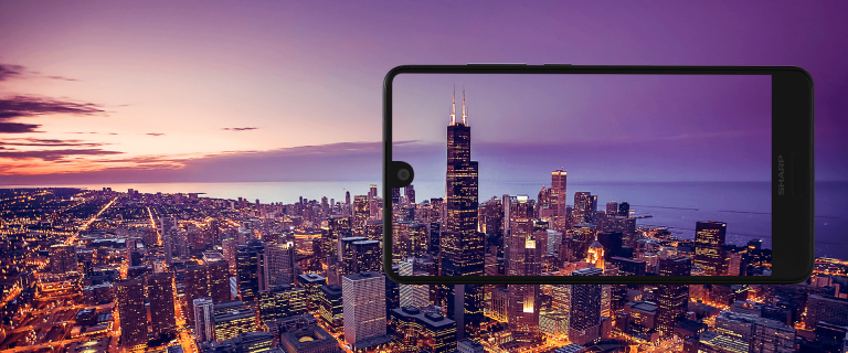 Das Aquos C10 mit Mini-Notch. (Foto: Sharp)