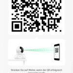 Die Kamera scannt einen QR-Code auf eurem Smartphone - so erfolgt die Einrichtung. Sehr cool. (Foto: Screenshot)