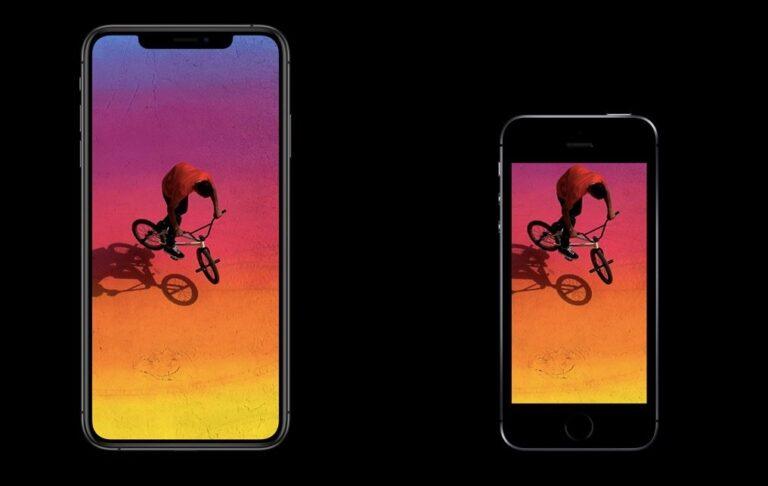 Na, Kleiner?! Das Apple iPhone Xs Max (6,5 Zoll) im Vergleich mit dem iPhone SE (4,0).