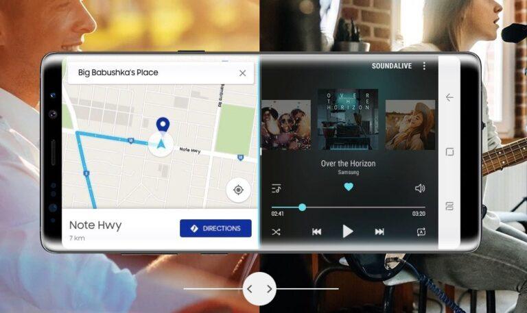 Zwei Apps gleichzeitig? Auf Smartphones mit großem Display wie hier dem Samsung Galaxy Note 8 kein Problem