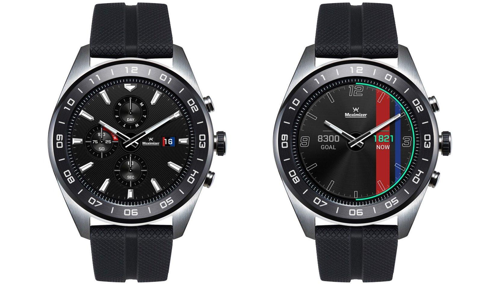 Die Smartwatch LG Watch W7 bietet smarte Funktionen auf den Ziffernblättern, aber klassische Zeiger mit einem Quartzwerk (Bilder: LG)