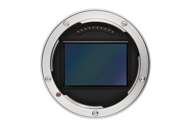 Riesig: Ein Vollformatsensor in einem L-Mount-Bajonettsystem. Bild: Leica