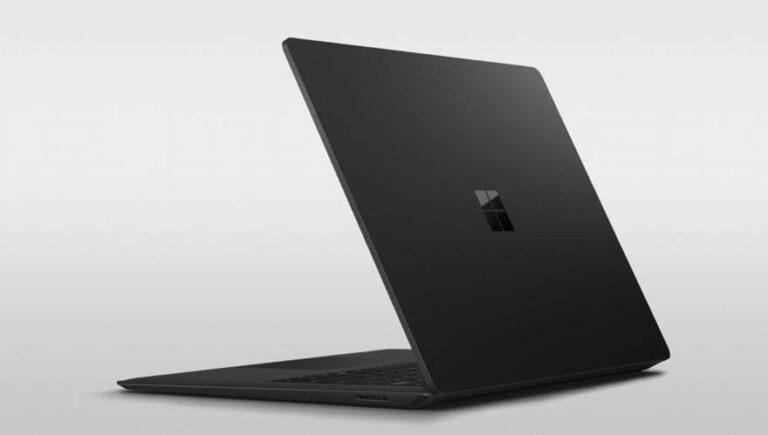 Der Surface Laptop 2 wird auch in Schwarz angeboten. (Foto: Microsoft)
