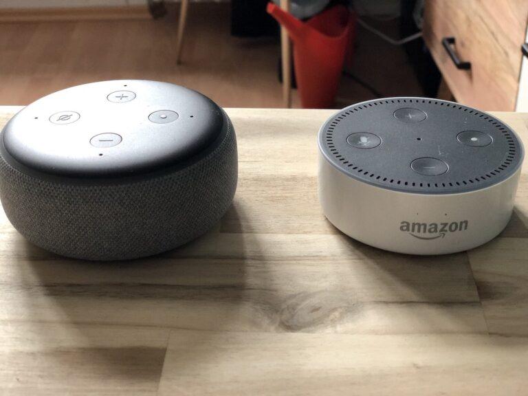 Neuer und alter Echo Dot im Vergleich