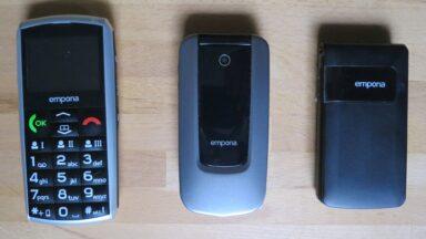 Emporia-Seniorenhandys im Vergleich (Bild: Peter Giesecke)