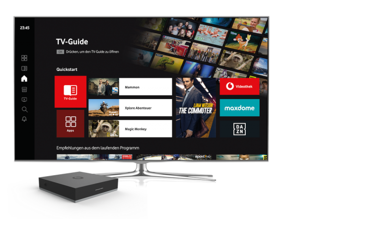 GigaTV Net mit TV-Streaming-Box